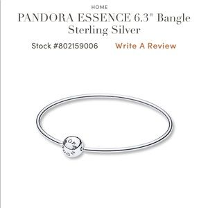 "PANDORA ESSENCE 6.3"" Bangle Sterling Silver"
